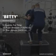5 Rounds For Time: 12 Push Presses lb); 20 Box Jumps in) Box Jump Workout, Wod Workout, Travel Workout, Spartan Race Training, Spartan Workout, Marathon Training, Wods Crossfit, Crossfit At Home, Fit Board Workouts