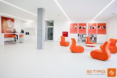 Open space in Sitag company. SITI and kuky chairs