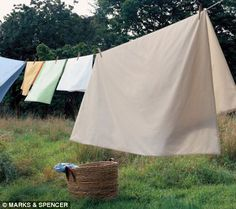 Running between the sheets was always fun and they smelled so fresh and nice after hanging on the line!
