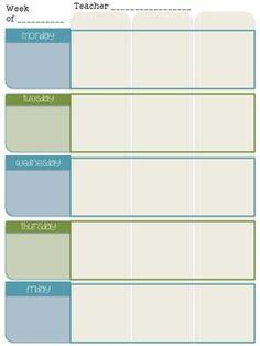 editable lesson plan templates