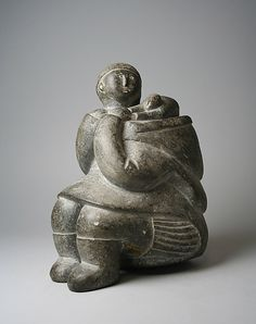 Stone Mother and Child Figure. Malaya. Date: ca. 1955. Geography: Canada, Belcher Islands, Nunavut, Hudson Bay. Culture: Inuit.