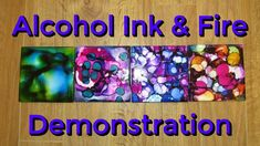 Alcohol Ink and FIRE on Tile Demonstration! Beautiful Coasters Made With Alcohol Ink & Fire! Alcohol Ink Tiles, Alcohol Ink Glass, Alcohol Ink Crafts, Alcohol Ink Painting, Alcohol Inks, Marker Crafts, How To Make Coasters, Tile Crafts, Ink In Water