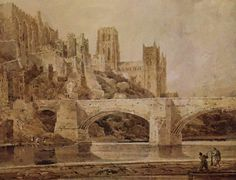 Durham Cathedral & Bridge Canvas Art - Thomas Girtin x Muse Kunst, Durham Cathedral, Art Thomas, Russian Painting, Muse Art, Painting Wallpaper, Landscape Illustration, Wall Art Prints, Canvas Art