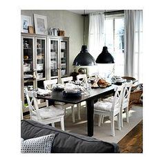 STORNÄS Mesa extensível - castanho-preto - IKEA 329€ 201/247/293x105 cm