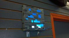 diy minecraft bedroom   Diamond Ore Wall Lamp - Imgur