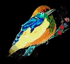 Decorative Bird Tree Artwwork Black Rainbow Art Painting Of Original Love Birda Colorful Wall Decor Wall Hanging Etsy UK Shop Modern Art Artwork For Home, Bird Artwork, Gifts For Office, Postcard Size, Bird Tree, Rainbow Art, Etsy Uk, Bird Prints, Uk Shop