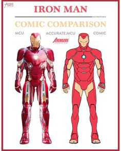 "740 Likes, 11 Comments - • Accurate.MCU • mcu fanpage (@accurate.mcu) on Instagram: ""• IRONMAN - COMIC COMPARISON 2.0 • I decided to make a Ironman comparison of his new suit in…"""