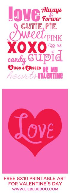 Free Printable Valentine's Day Art Prints