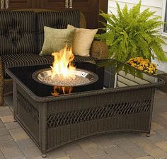 Outdoor GreatRoom Naples Gas Fire Pit Coffee Table