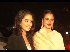 Rekha & Shraddha Kapoor @ Priyanka Chopra's 32nd birthday bash.