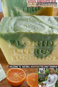 Natural Handcrafted Soap Company offers slightly larger bars with a longer aged / curing process. We offer a few different Specialty Soaps from our rare collection of natural /handmade organic soaps and a few rare ingredients from the Amazon Rain Forest. Citrus Natural Handmade Soap -Get clean daily the natural way with citrus handmade soaps Wonderful Citrus Soaps Made With The Best Citrus Oils Available Read more information on unique varieties of citrus soap Acne Soap, Citrus Essential Oil, Organic Soap, Handmade Soaps, Wonderful Citrus, Lemon, Florida, Soap Company, Skin Problems