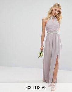 TFNC WEDDING Maxi Dress with Embellishment | Long Skater Dresses | Occasion Dresses