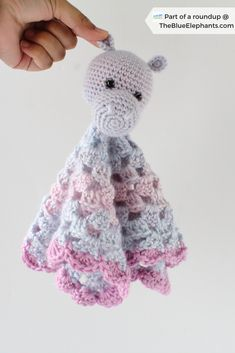 Crochet animals 87609155239216750 - 21 Free Crochet Patterns for Critter Lovies: Roundup by Underground Crafter Crochet Lovey Free Pattern, Crochet Hippo, Crochet Animal Amigurumi, Softie Pattern, Crochet Animal Patterns, Crochet Animals, Crochet Baby, Free Crochet, Easy Crochet
