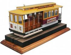 The Artesania Latina San Francisco Powell Street Cable Car Wooden Model Kit from the wooden heritage model kits range accurately recreates the real life cable car in fine detail.