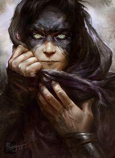 images for anime illustration art Fantasy Portraits, Character Portraits, Character Art, Fantasy Rpg, Fantasy World, Dark Fantasy, Dnd Characters, Fantasy Characters, Fantasy Inspiration