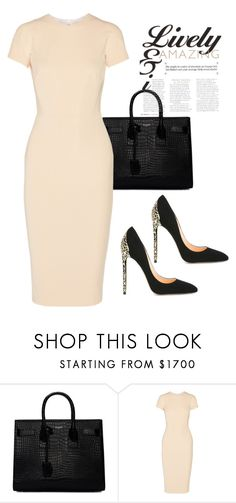 """Untitled #599"" by sanchez-drummond ❤ liked on Polyvore featuring Yves Saint Laurent, Victoria Beckham and Cerasella Milano"