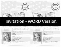 DIY French Themed Party Invitations: Passport Invitation WORD Version   Hello Little Home