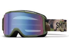 Smith - Daredevil Olive Haze Goggles, Blue Sensor Mirror Lenses