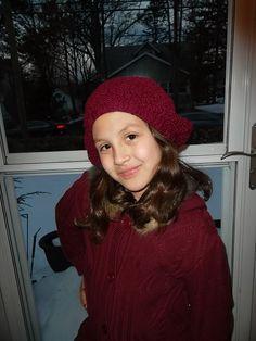 Slouchy knit beret  Girls Hat  Girls Winter by inspirebynancy, $22.00