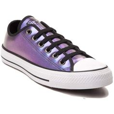 Converse Chuck Taylor All Star Lo Iridescent Sneaker ($55) ❤ liked on Polyvore featuring shoes, sneakers, converse shoes, sports trainer, converse trainers, star sneakers and lace up sneakers