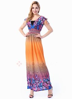 Dresses - $45.39 - Polyester Floral Sleeveless Maxi Casual Dresses (1955102507)