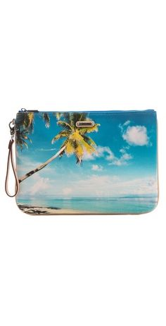 Rebecca Minkoff palm tree pouch - to hold the small stuff in your beach bag