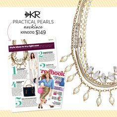Haven't hear of Silpada? Well I bet you've seen us. Silpada's Practical Pearls Necklace was featured in Redbook Mag! See it online now at wwww.mysilpada.com/alyssa.moss