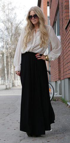 Como usar: Faldas Largas | Ella es Fashion