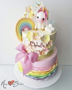 My Little Pony - Ciupakabra Cakes - Pastel de Tortilla Pretty Cakes, Cute Cakes, Beautiful Cakes, Amazing Cakes, Rodjendanske Torte, Fantasy Cake, Birthday Cake Girls, Unicorn Birthday, Birthday Parties