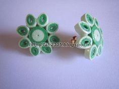 Handmade Jewelry - Paper Quilling Flower Stud Earrings (4)
