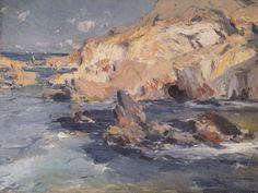 Eliseo Meifrén Roig. Costa de Mallorca. Óleo sobre lienzo. Firmado. 46 x 51 cm. Exposición Valencia, p. 123.