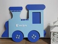 £18.00 Train Name Plaque - Large. Personalised gifts, baby, baby gifts, childrens name plaques, kids, wooden name plaques. Nursery decor, trains.