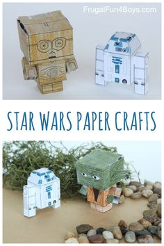 Star Wars Paper Crafts to Make - Printable cube characters, foldable flyers, finger puppets, and more