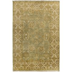 Hand-Knotted Samara Floral New Zealand Wool Rug