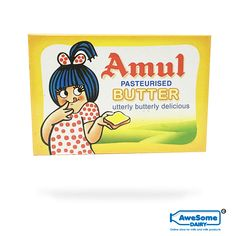 Amul: Amul is the leading brand in India for its food products and the beverage products and is known for high-quality milk and milk products.  Amul Butter: Amul butter is basically unsalted table butter. Amul butter now comes in a convenient mini tub. It is utterly butterly delicious. It can be used for baking, shallow frying and cooking. Net content of the pack is 100gm.