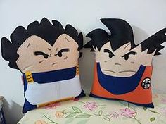 Handmade Dragon Ball Z Goku and Vegeta Pillow Set