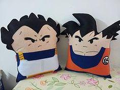 Handmade Dragon Ball Z Goku and Vegeta Pillow Set