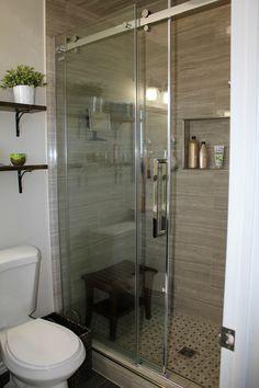 ensuite bathroom renovation tile frameless shower