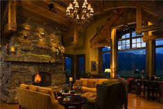 Homey Country/Rustic Living & Family Room by Jerry Locati on HomePortfolio