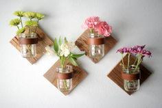 DIY Rustic Mason Jar Sconce