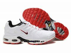 sports shoes 5e7df 186b9 Nike Officiel Nike Air Max Tn Requin Tuned 1 Chaussures Pas Cher Pour Homme  Blanc Rouge