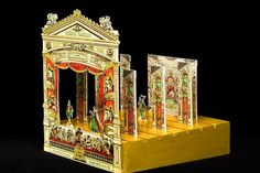 'Proscenium, Théâtre Francaise,' circa 1866, is one of the paper theaters on display at the Bruce Museum in Greenwich, Connecticut