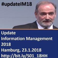 """""""Update Information Management 2018"""" Jahresauftaktseminar mit Dr. Ulrich Kampffmeyer und Thomas Wehner, Medac, am 23.01.2018 in Hamburg zu #Trends #DigiBiz #InfoManagement #ECM #EIM #IIM #updateIM18 #InfoGov #Digitalisierung #KI #Pharma https://www.xing-events.com/1883736-1f5d1280.html"""