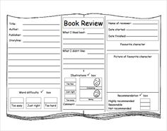 32 best book review template images reading workshop readers