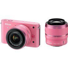PInk Nikon 1 J1. Fabulous color. compact camera. Interchangeable lens. Want it.