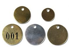 Metal Tags, Brass Tags in Stock - ULINE