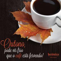 Bem-vindo outono!  Que essa estação traga bons ventos e colha ótimos frutos. #betônico #agencia #publicidade #propaganda #café #outono