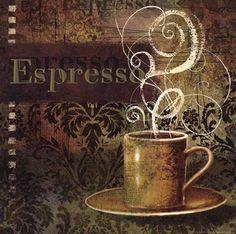 Espresso Art Print by Vivian Eisner at Urban Loft Art