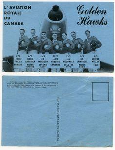 Golden Hawks Postcard (French Version)