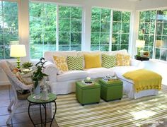 <p>Warm-weather devotees, take notice: Pops of lemon and lime will make your space feel summery year... - Hooked On Houses